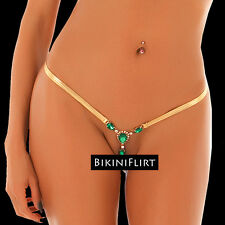 SEXY OPEN FRONT MICRO THONG BIKINI BOTTOM WITH JEWELS! SO SKIMPY! BRAND NEW!!!