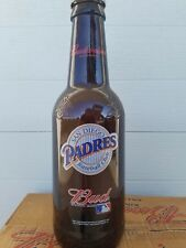 "HUGE Budweiser 15"" TALL San Diego Padres GLASS BEER BOTTLE King Pitcher  MLB"