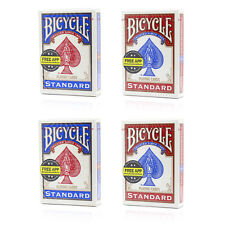 New Bicycle Standard Playing Cards x4 2 Red & 2 Blue