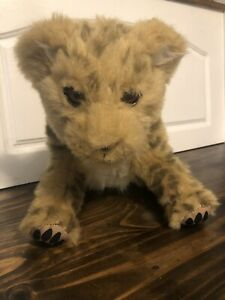 """LION CUB WowWee ALIVE Full Size Interactive 13"""" Plush Wow Wee Leopard"""