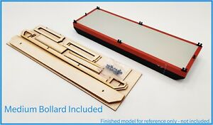 Flat-Top Barge Kit - Laserply+Resin Bollards 530x180mm 1:15-1:48+Instructions RC
