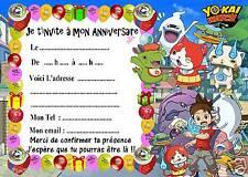 5 cartes invitations anniversaire Yokai Watch 07