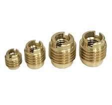 36pc Brass Inserts Thread For Wood Cabinet To Machine Bolt Hardware Assort