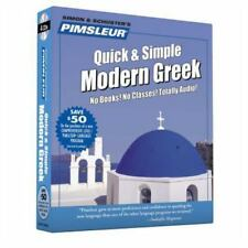 Pimsleur Modern Greek Quick & Simple Audio Lessons CD Book NEW