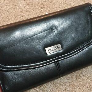 Buxton Checkbook Wallet Dark Gray NWT