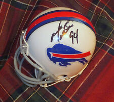 MARIO WILLIAMS Bills Autographed Mini Helmet with BDS COA #2434