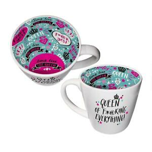 Inside Out Mug - Queen Of Everything ISO166 - Tea Or Coffee Mug New Gift Boxed