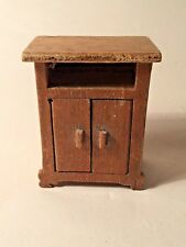Vintage doll's house wooden Cupboard with oblong knobs - unusual  - L4