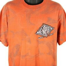 New listing Newport Surf & Sport T Shirt Vintage 90s Dolphin Surfer All Over Print Large
