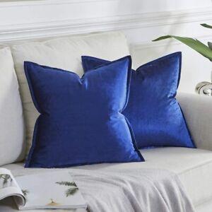 Gigizaza OMMATO Blue Cushion Covers 18 x 18 Inch Velvet Square 2 pack
