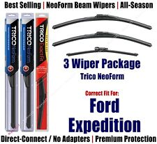 3-Pack Wipers Front & Rear NeoForm - fit 2018+ Ford Expedition - 16220x2/11G