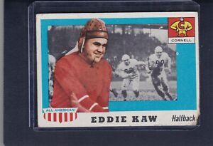 1955 Topps All American #15 EDDIE KAW P Cornell Big Red University Football Card