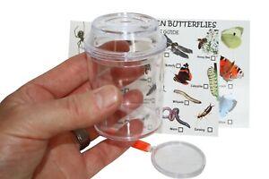 Bug Pot/ Bug Jar Set Includes Insect Spotter Cards & Magnifying Glass