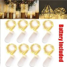 10 Pack Led Copper Wire Fairy String Light Xmas Party Decor 2M 20 Led Warm White