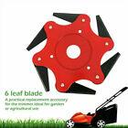6 Teeth Grass Trimmer Brush Cutter Head 65Mn Steel Garden Strimmer Mower Blade