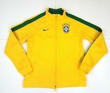 Nike Brazil Track Jacket CBF 2014 Women XL Yellow Brazilian Soccer