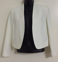 Ex NEW WALLIS Smart Tailored Fit White Structured Soft Blazer Jacket Size 8-18