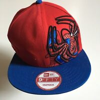 New ERA Marvel Spider-Man Baseball Cap Hat Snapback Red Blue Embroidered