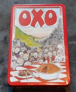 Vintage OXO Cube Storage Tin 48 Cube-1998 Martin Sanders Collectable