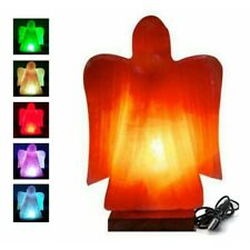 Himalayan Pink Angel shape Salt Lamp USB Hand Crafted Multi Color Lamp
