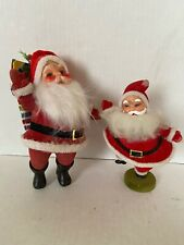 Vintage Christmas Santa Flocked Dancing Sack Toys