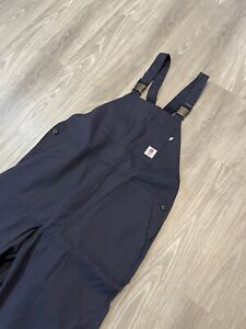 Tyndale FR Flame Resistant Work Farm Bib Overalls Mens Size XL Navy Blue