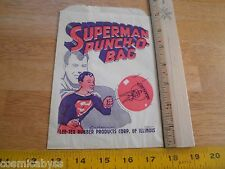 Superman 1940's Punch-O-Bag UNUSED for punch balloon Lee-Tex Rubber products
