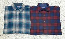 Vtg Men's Vintage Wool Plaid Button Down Pendleton Shirt Lot Of 2 Excellent M