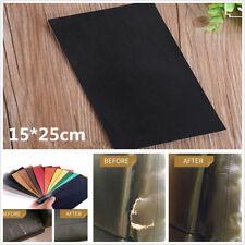 Black 15*25cm Sheep Leather Repair Patch for Sofas Car Seats Handbags Jackets