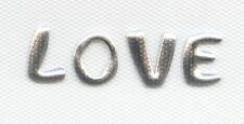 Iron On Transfer Applique Nailhead LOVE Silver  6F0013