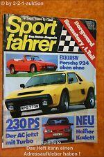 Sportfahrer 9/84 AC 3000 Porsche 924 Cabrio BMW 323i