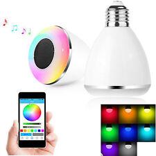 Wireless Bluetooth Smart Light Bulb Music Speaker For iPhone 7 6S 5S Samsung LG
