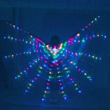 LED isis wings belly dance wings cosplay prop wings Fairy wings & Sticks & Bags