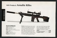 2006 ARMALITE AR-10 Superass Rifle PRINT AD New Product Advertising