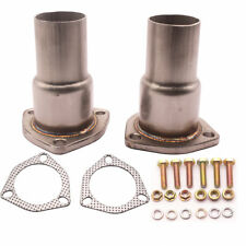 "Stainless Steel HEADER EXHAUST COLLECTOR KIT 2.5"" INLET 3-Bolt  2"" OUTLET"