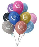 New Multi Colour Eid Mubarak Party Decoration Balloon Happy Celebration Pack 10