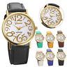 Girl Women Watches Leather Band Stainless Steel Dial Quartz Wrist Watch Gift NEW
