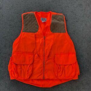 Vintage Blaze Orange Cabela's Hunting Vest Size Large Regular 42-44 Made in USA