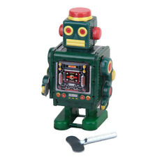 Vintage Wind Up CLOCKWORK Walking Robot TIN TOY Collectible Xmas Gift