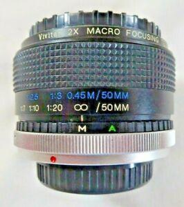Vivitar 2x Macro Focusing Tele Convertor MC C/FD to Fit Canon FD Film Camera's