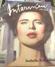 ANDY WARHOL INTERVIEW MAGAZINE APR 1988 ISABELLA ROSSELLINI CARRIE FISHER