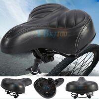 Comfort Wide Big Bum Mountain Road Bike Bicycle Soft Pad Saddle Seat PU Leather