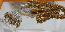 Rare İslamic Prayer Beads 33 Gold Crystal  & Sterling Tasbih Gebetskette