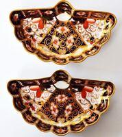 Royal Crown Derby England 2 kleine alte Schalen Anbietschalen handbemalt Muschel