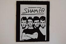 Sham 69 Cloth Patch Punk Rock Cockney Rejects UK Subs Sex Pistols Clash (CP44)