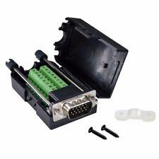 Db15 Male D Sub 3 Row 15pin Vga Plug Breakout Terminal Solderless Connector