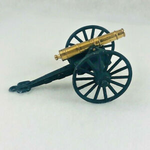 Vintage Cannon Miniature Toy Cast Iron and Brass 4 Inches