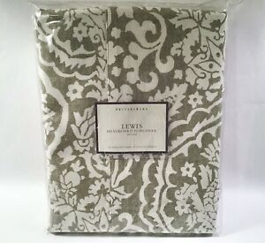 Pottery Barn LEWIS California King Headboard Slipcover Sage Green NEW