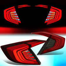 FOR 2016-2018 HONDA CIVIC 4DR SEDAN 3D LED BAR STYLING TAIL LIGHT BRAKE LAMPS