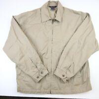 Brooks Brothers Men's Jacket sz Medium Beige Full Zip Lightweight 100% Cotton